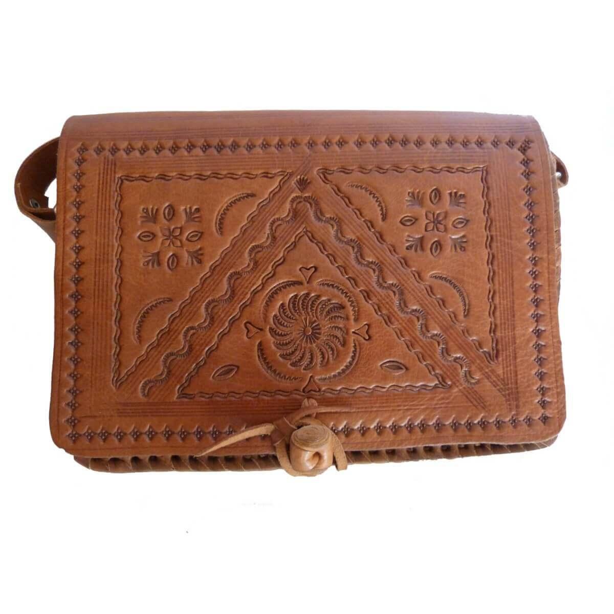 Dodatki Orientalische Umhängetasche Ledertasche Tasche Orient Dunkelbraun