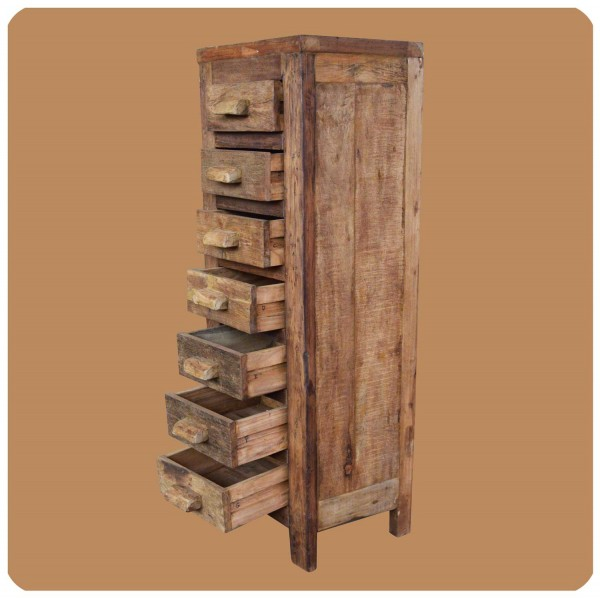 Altholz Regal Kommode Massiv Teak Holz Unikat Handarbeit Recycling