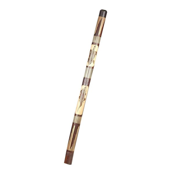 Didgeridoo Bambus Holz Aborigini bemalt geschnitzt Instrument fair Gecko Schildkröte Dot Painting