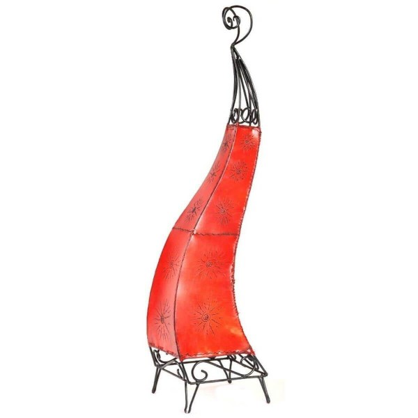 Orientalische Lampe Hennalampe marokkanische Lederlampe Tischleuchte Stehleuchte El Bahia Sonne 100 cm