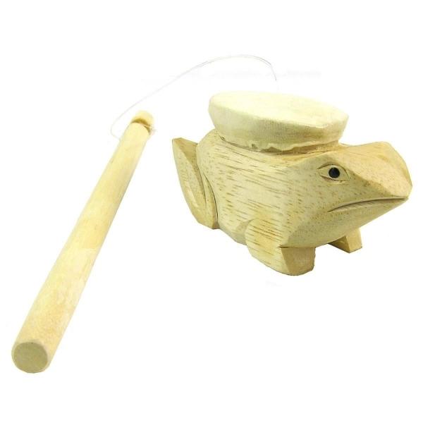 Frosch Musik Holz Rhythmus Klang Instrument Percussion Kinder Spielzeug Soundeffekt Spinning Frog
