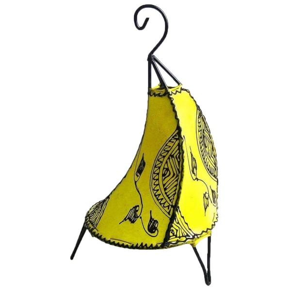 Orientalische Lampe Hennalampe marokkanische Lederlampe Tischleuchte Stehleuchte Henna Tissir Ranke 35-38 cm