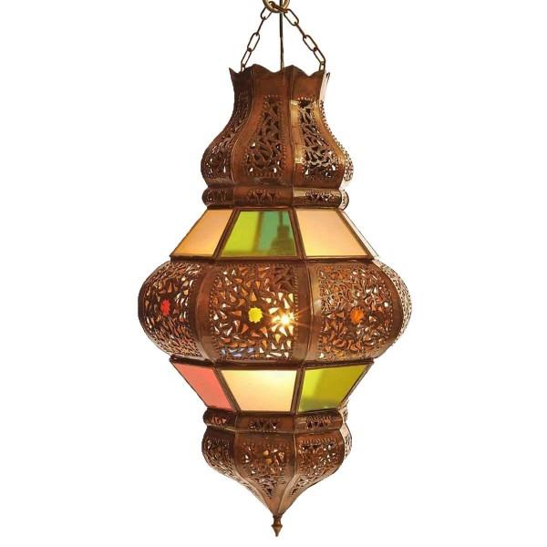 Orientalische marokkanische Lampe Palast Laterne Deckenlampe Deckenleuchte Hängelampe RUND 45 cm