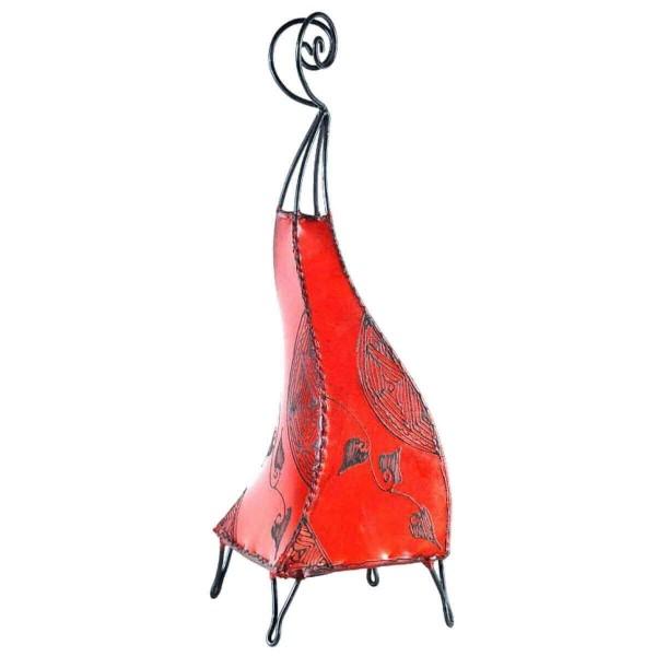 Orientalische Lampe Hennalampe marokkanische Lederlampe Tischleuchte Stehleuchte Marrakesch Ranke 60 cm