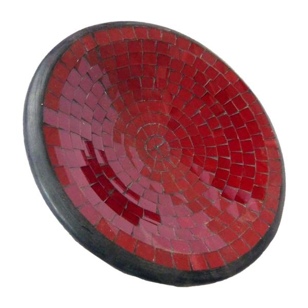 Mosaikschale Tonschale Glasschale Dekoschale Mosaik Kunsthandwerk Glassteine Deko rund M