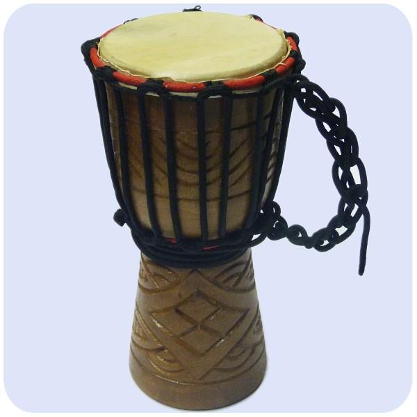 Djembe Trommel Bongo Afrika Percussion geschnitzt Holz Drum Instrument Musik Rhythmus 30 cm