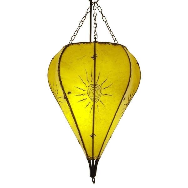 Orientalische Lampe Deckenleuchte Hängelampe marokkanische Deckenlampe Lederlampe Tropfen Sonne 40 cm