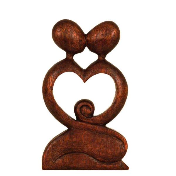 Holz Figur Skulptur Abstrakt Holzfigur Statue Afrika Asia Handarbeit Deko Liebe
