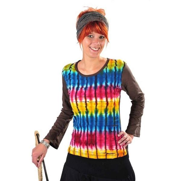 Patchwork Oberteil Sweatshirt Shirt Pullover Freizeitshirt Hippie Goa Psy Sweater Batik Hoodie Sansa
