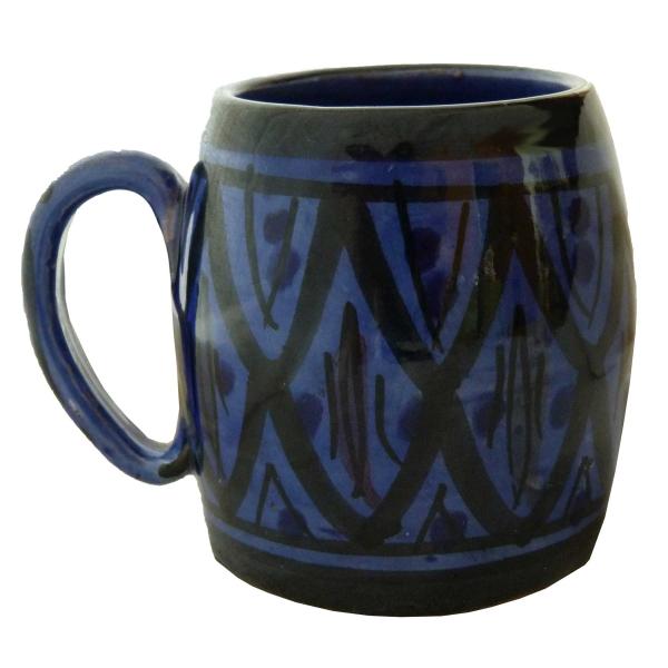 Becher Keramik Tasse marokkanische Bemalung Accessoires handbemalter Deko groß