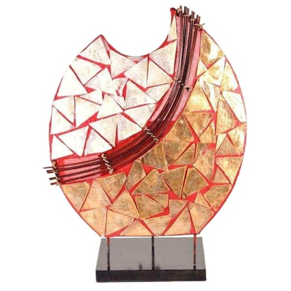 Deko-Leuchte Stimmungsleuchte asiatische Lampe Stehleuchte Tischleuchte Tischlampe Bali Asia PERLMUTT 36 cm