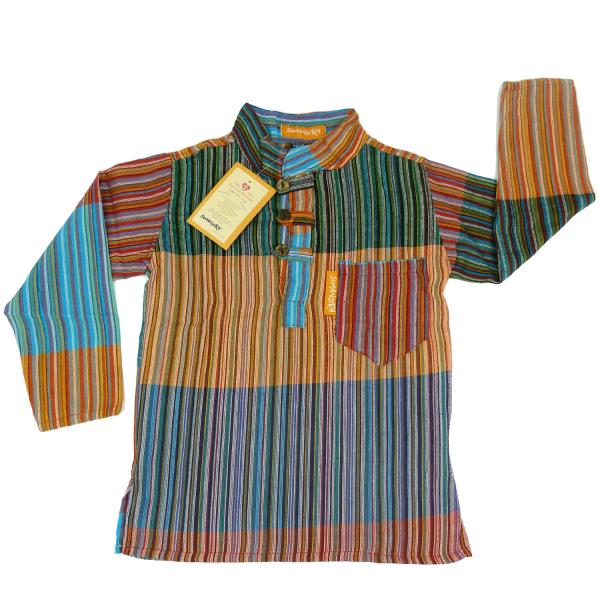 "Kinder Patchworkhemd ""Karna"" von Simandra - Hemd im Mittelalter-Stil"