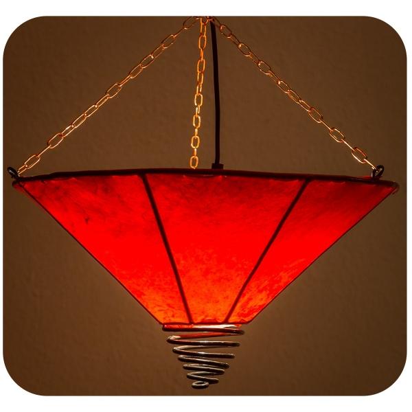 Orientalische Lampe Deckenleuchte Hängelampe marokkanische Deckenlampe Lederlampe Fuego Simple 40 cm