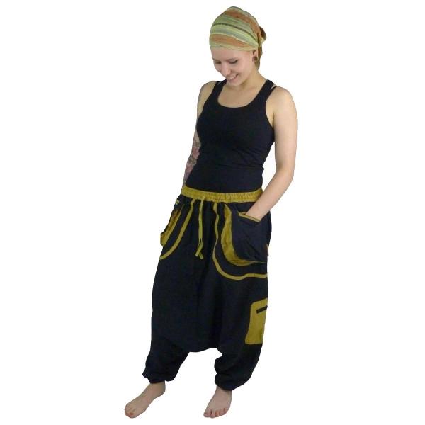 Haremshose Pumphose Aladinhose Pluderhose Yoga Goa Sarouel Baggy Aladin Freizeithose Dewa