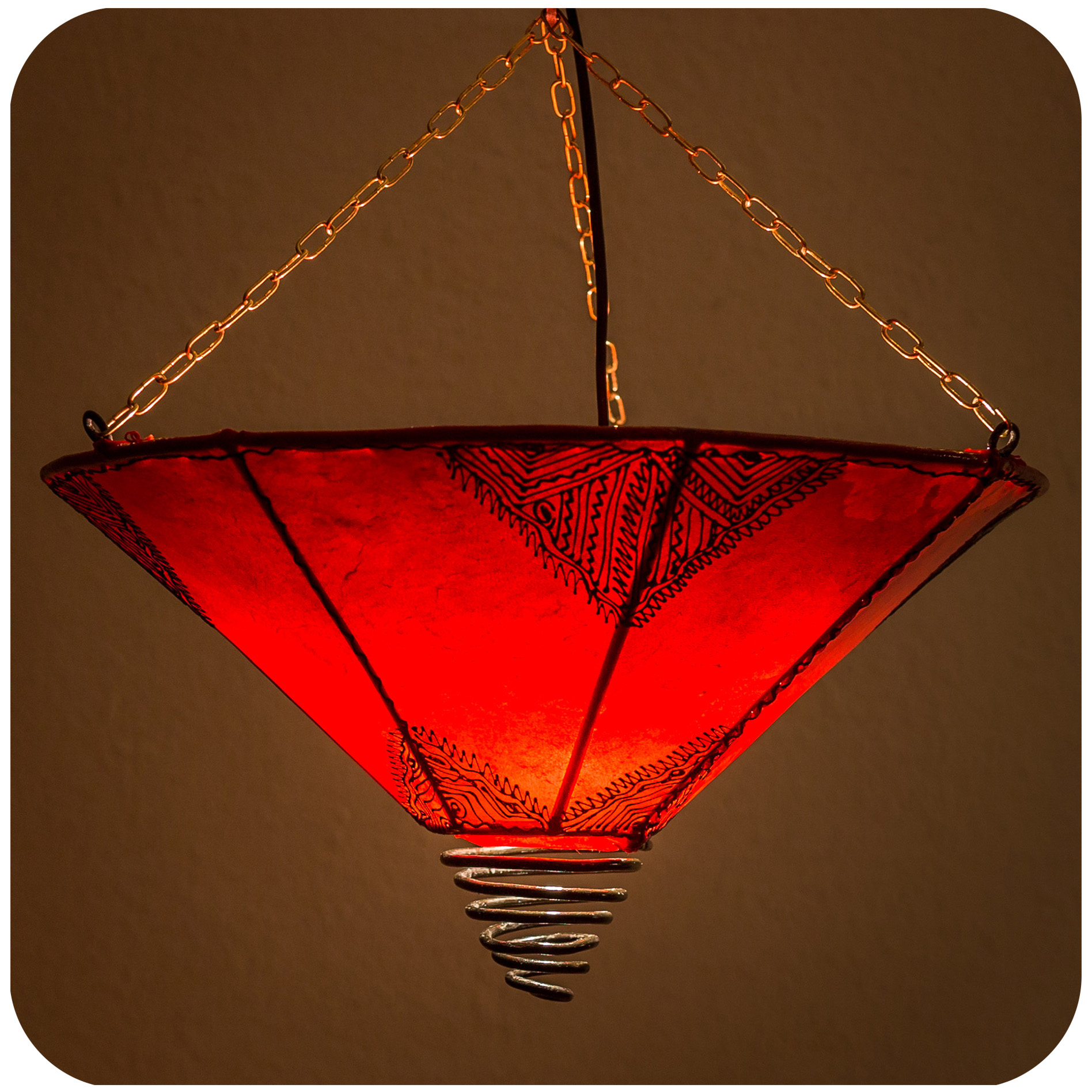 orientalische henna leder decken h nge lampenschirme. Black Bedroom Furniture Sets. Home Design Ideas
