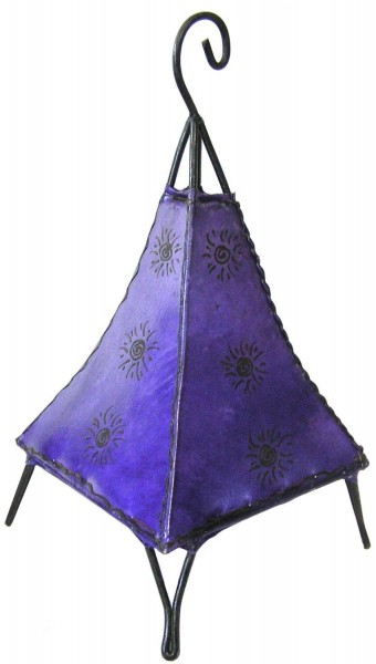 Orientalische Lampe Hennalampe marokkanische Lederlampe Tischleuchte Stehleuchte Pyramide Sonne 35-38cm cm