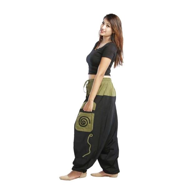 Haremshose Pumphose Aladinhose Pluderhose Yoga Goa Sarouel Baggy Aladin Freizeithose Simandra Damen