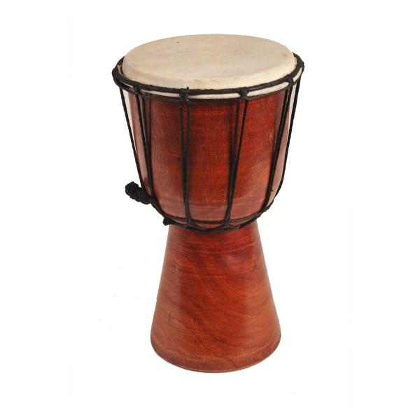 Djembe Trommel Bongo Afrika Holz unbemalt Drum Klang Instrument Musik Rhythmus Percussion