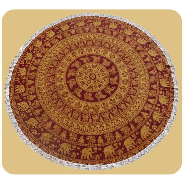Wandtuch rund Mandala indischer Wandbehang Strandlaken Tagesdecke Tischdecke Tuch groß 1