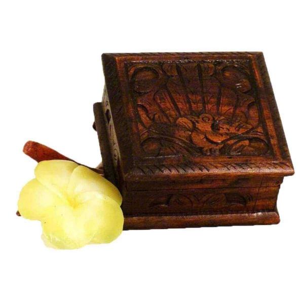 Holz Schatulle Dose Schmuckdose Holzschachtel Kunsthandwerk Holzdose Holzschatulle Kiste Viereckig