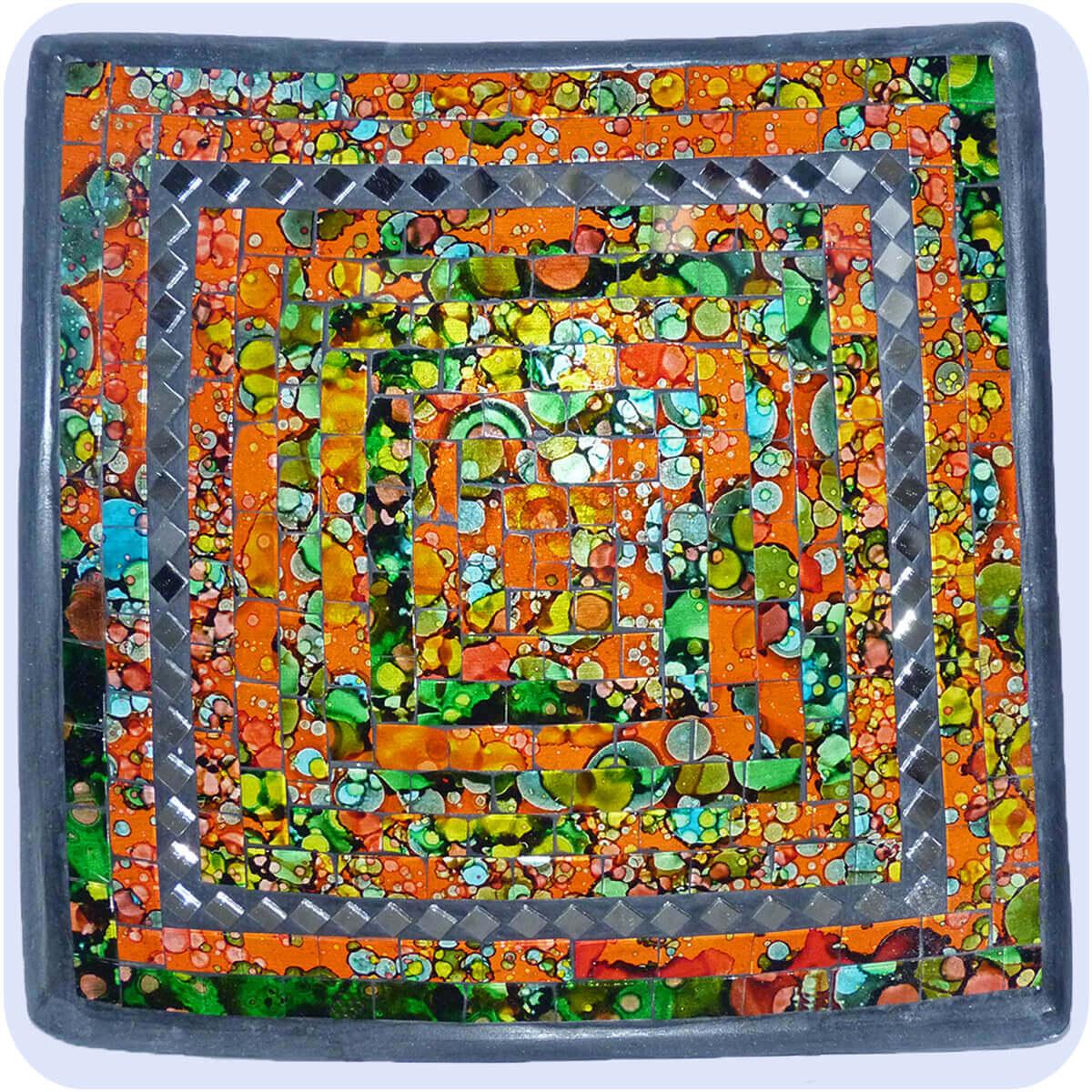 mosaikschale tonschale glasschale deko schale mosaik quadrat spiegel. Black Bedroom Furniture Sets. Home Design Ideas