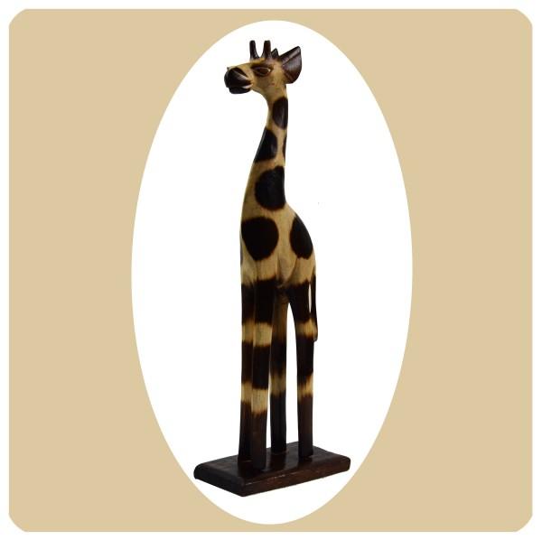 Simandra Holz Figur afrikanische Skulptur Holzfigur Afrika Deko Giraffe