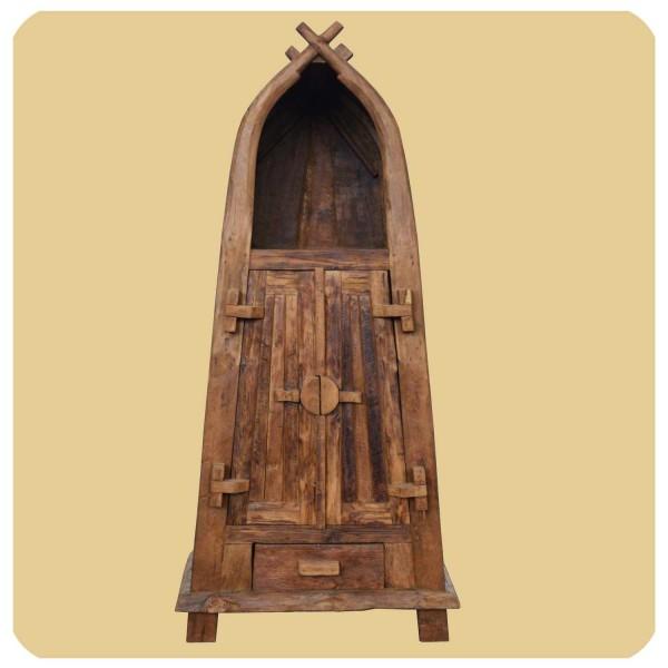 Altholz Schrank Sumatra Vintage Massiv Teakholz Möbel Handarbeit Antik 1