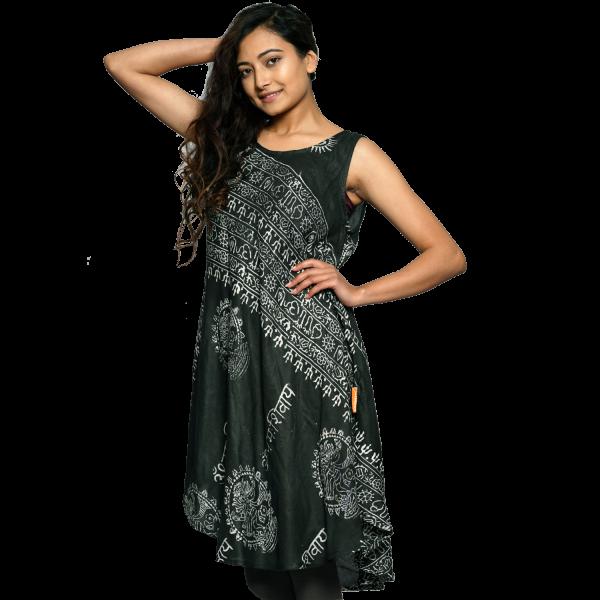 """Kleid """"Om"""" - leichtfallendes Sommerkleid - ärmelloses Strandkleid - Boho - Ethno - Goa - alternative Mode - Fair-Fashion"""