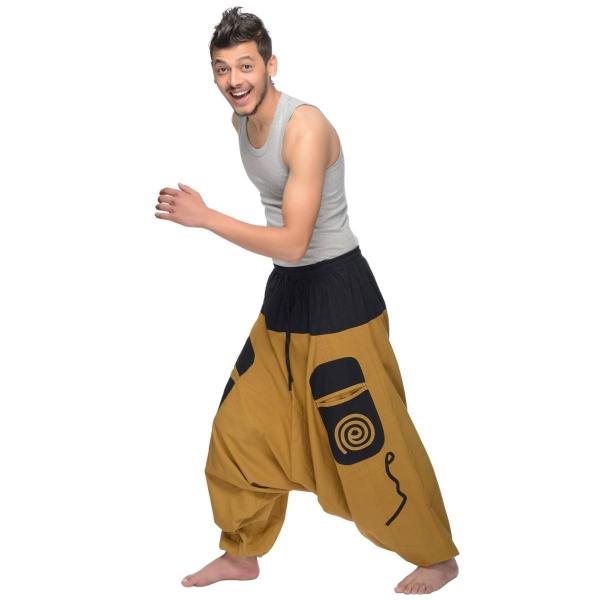 Haremshose Pumphose Aladinhose Pluderhose Yoga Goa Sarouel Baggy Aladin Freizeithose Simandra Herren