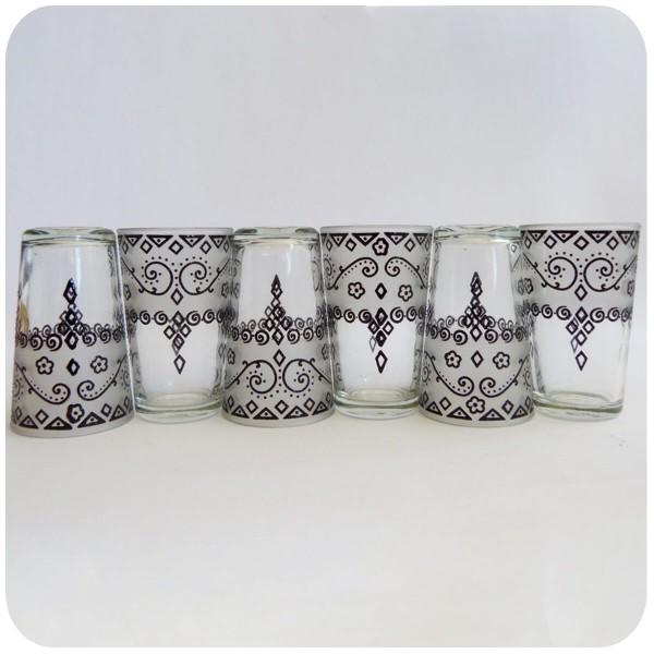 Orientalische Teegläser marokkanische Gläser Teeglas Teeset Set Deko Orient 6-teilig