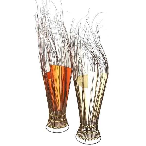 Deko-Leuchte Stimmungsleuchte asiatische Lampe Stehleuchte Tischleuchte Tischlampe Bali Asia Zweige 80 cm