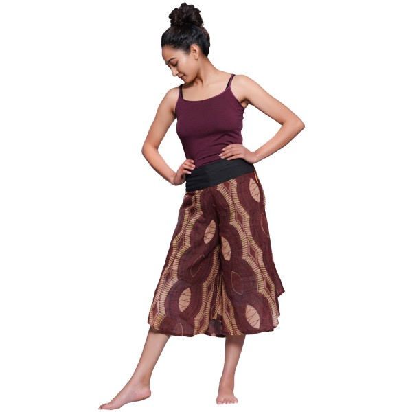 "Simandra Haremshose ""Ajan"" - Aladinhose im Hosenrock-Stil - Pumphose aus Baumwolle"