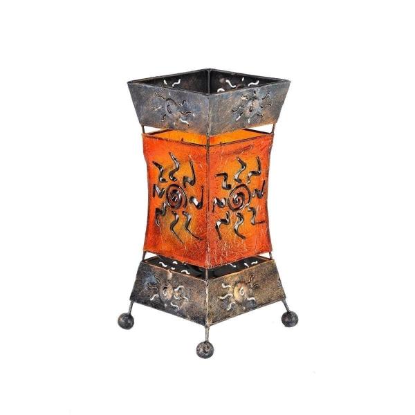 Deko-Leuchte Stimmungsleuchte asiatische Lampe Stehleuchte Tischleuchte Tischlampe Bali Asia XENIA 26 cm orange