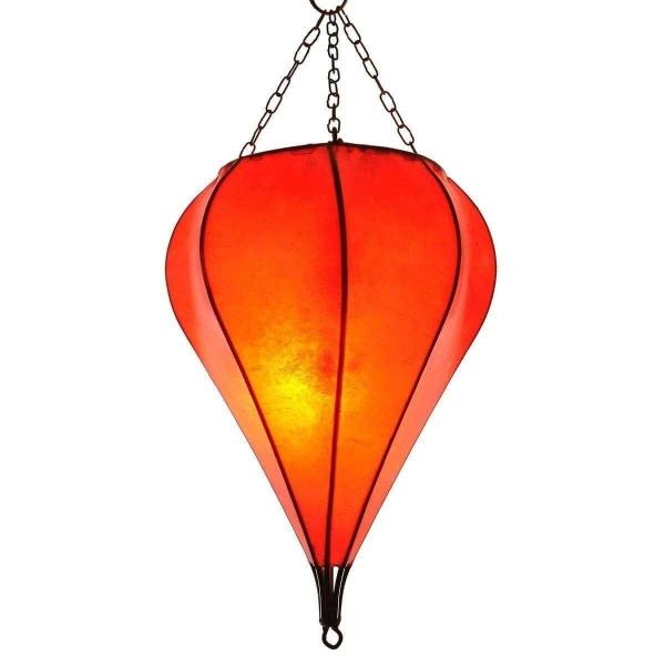 Orientalische Lampe Deckenleuchte Hängelampe marokkanische Deckenlampe Lederlampe Tropfen Simple 40 cm