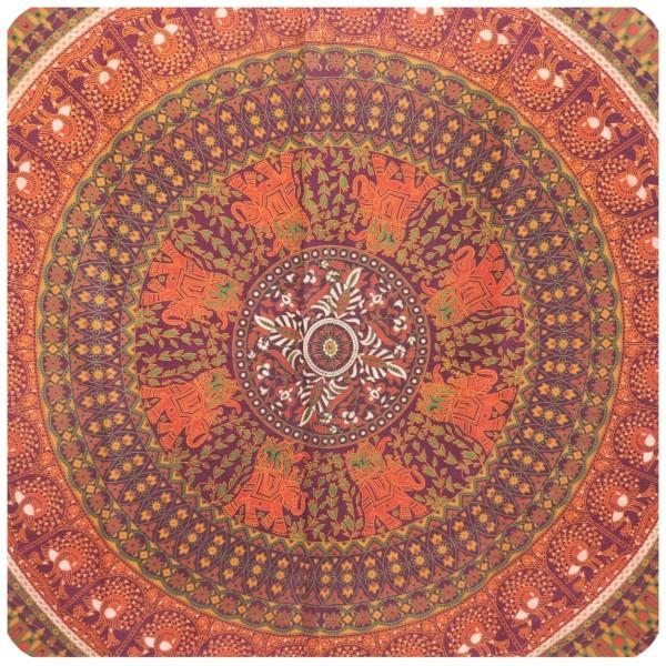 Wandtuch Elephant 210x240cm - indischer Wandbehang aus Baumwolle - Picknickdecke & Tagesdecke
