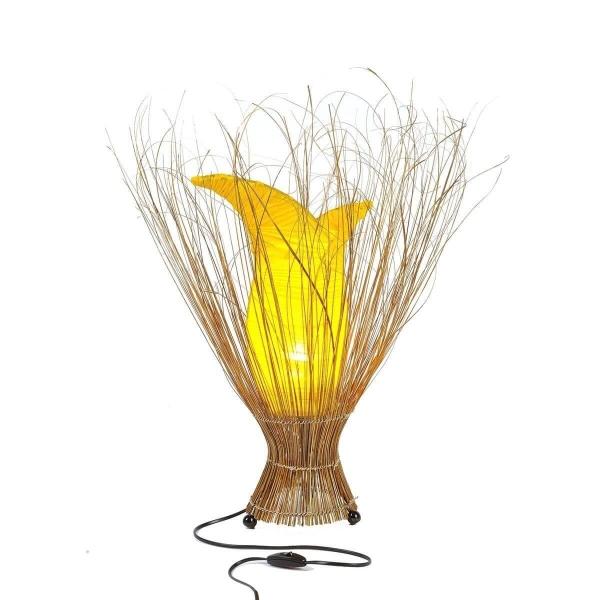 Deko-Leuchte Stimmungsleuchte asiatische Lampe Stehleuchte Tischleuchte Tischlampe Bali Asia TULPE groß 100 cm