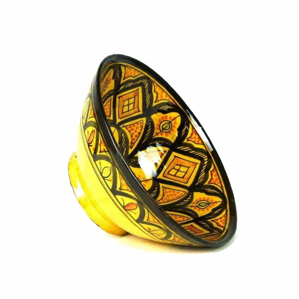 Orientalische marokkanische Keramikschale Keramik Obst Salat Reis Schale Schüssel Deko XXL