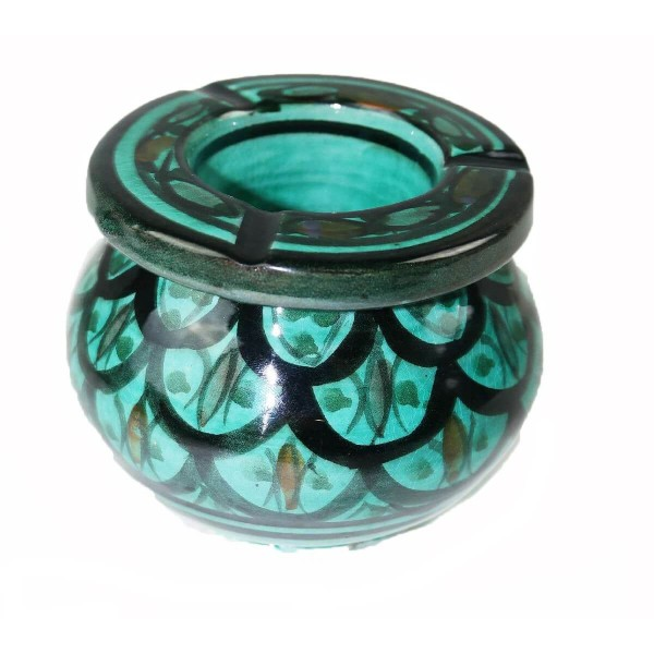 Marokkanischer Sturmaschenbecher Aschenbecher Keramik Windascher Ascher Orient Deko groß