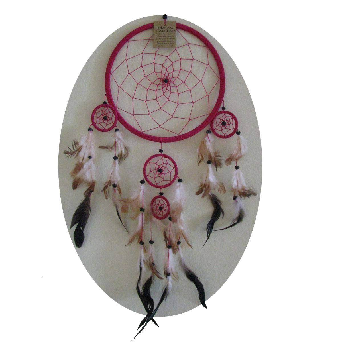 traumf nger dreamcatcher federn deko geschenk windspiel 11 cm. Black Bedroom Furniture Sets. Home Design Ideas
