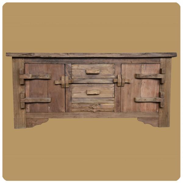 Altholz Kommode Lombok Vintage Massiv Teakholz Möbel Handarbeit Antik 3