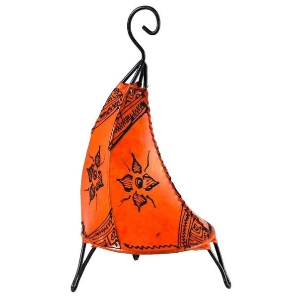 Orientalische Lampe Hennalampe marokkanische Lederlampe Tischleuchte Stehleuchte Henna Tissir Orient 35-38 cm