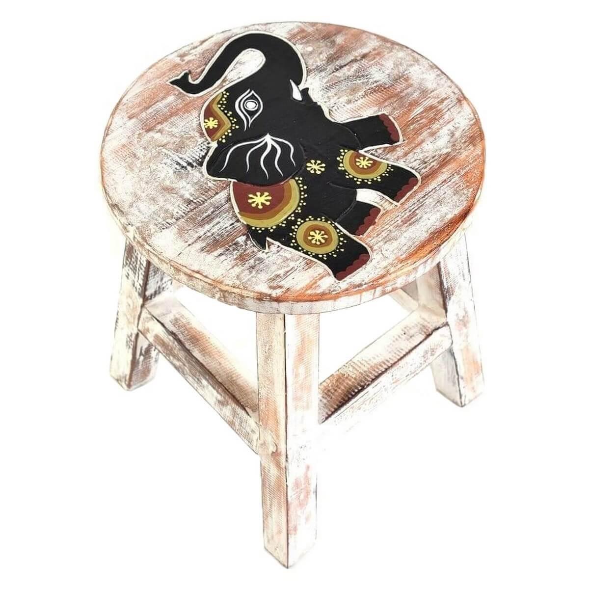 holzhocker kinderhocker hocker sitzhocker fu bank holz stuhl wei. Black Bedroom Furniture Sets. Home Design Ideas