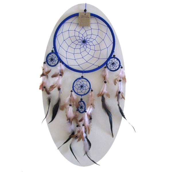 Traumfänger Dreamcatcher Federn Träume Geschenk Dekor Hängend Windspiel Raumharmonisierung 16 cm