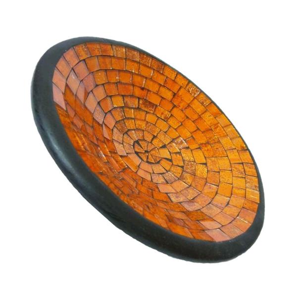 Mosaikschale Tonschale Glasschale Dekoschale Mosaik Kunsthandwerk Glassteine Deko rund S