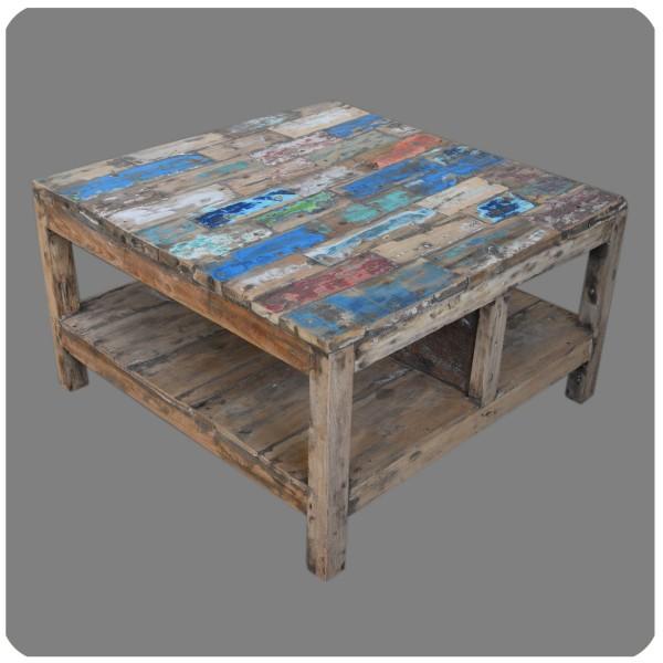 Altholz Tisch Madura Vintage Massiv Teakholz Möbel Handarbeit Antik 1