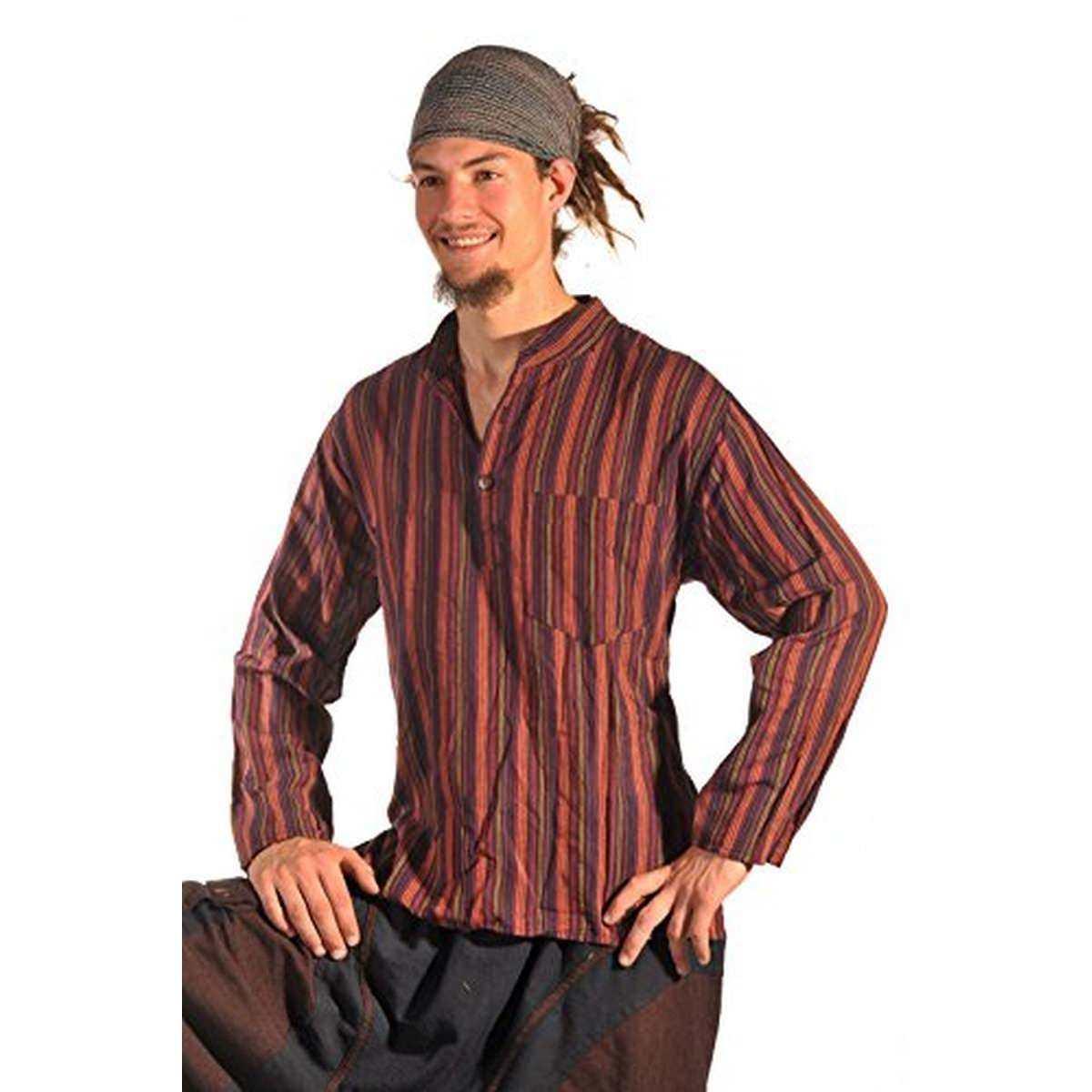 Relativ Fischerhemd Hemd Pullover Shirt Freizeithemd Freizeit Hippie Goa Kurt IL26