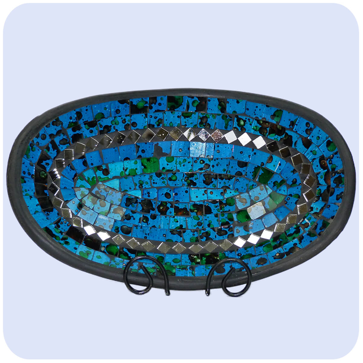 Mosaikschale tonschale glasschale dekoschale mosaik deko oval sp m - Spiegel mosaik deko ...