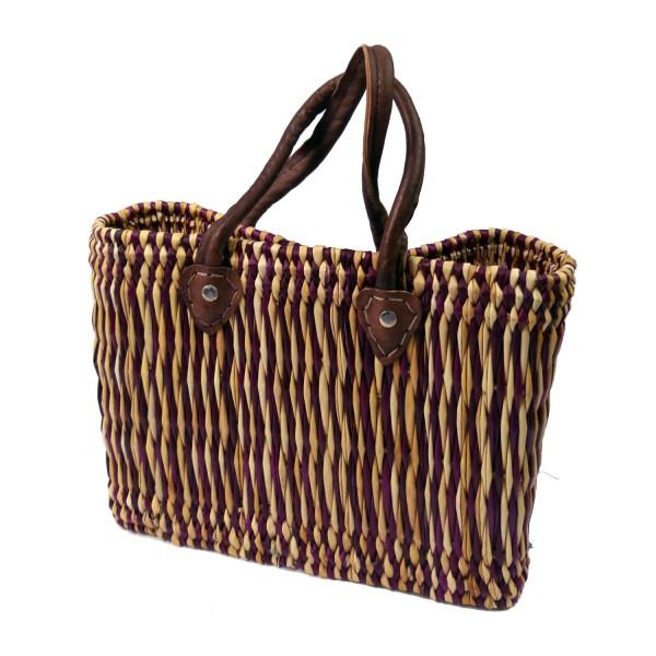 Seegras Tasche Korb Einkaufstasche Einkaufskorb Flechtkorb Korbtasche Palmgras kurzer Griff klein