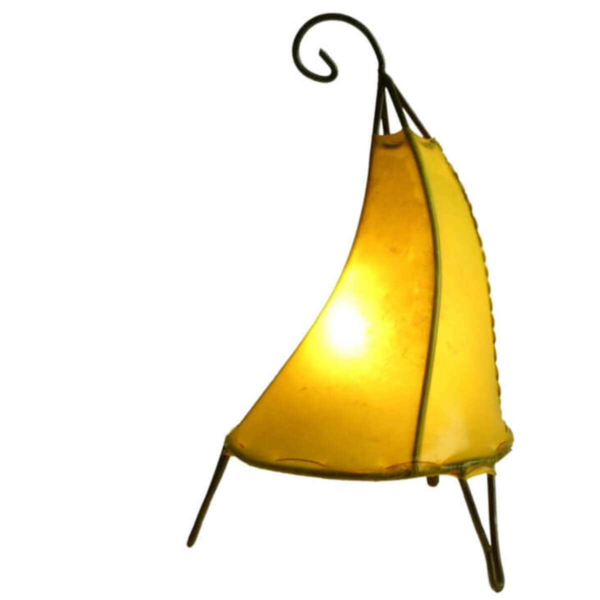 Orientalische Marokkanische Stehlampe Leder Lampe Hennalampe Lederleuchte Pyrami