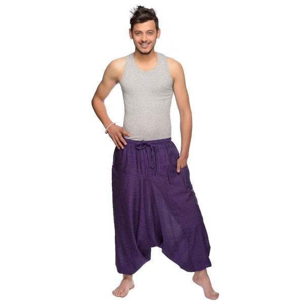 Haremshose Pumphose Aladinhose Pluderhose Yoga Goa Sarouel Baggy Freizeithose Singharaja Herren